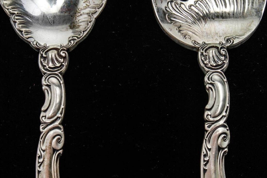 Gorham Sterling Silver Salad Servers, Pair - 3