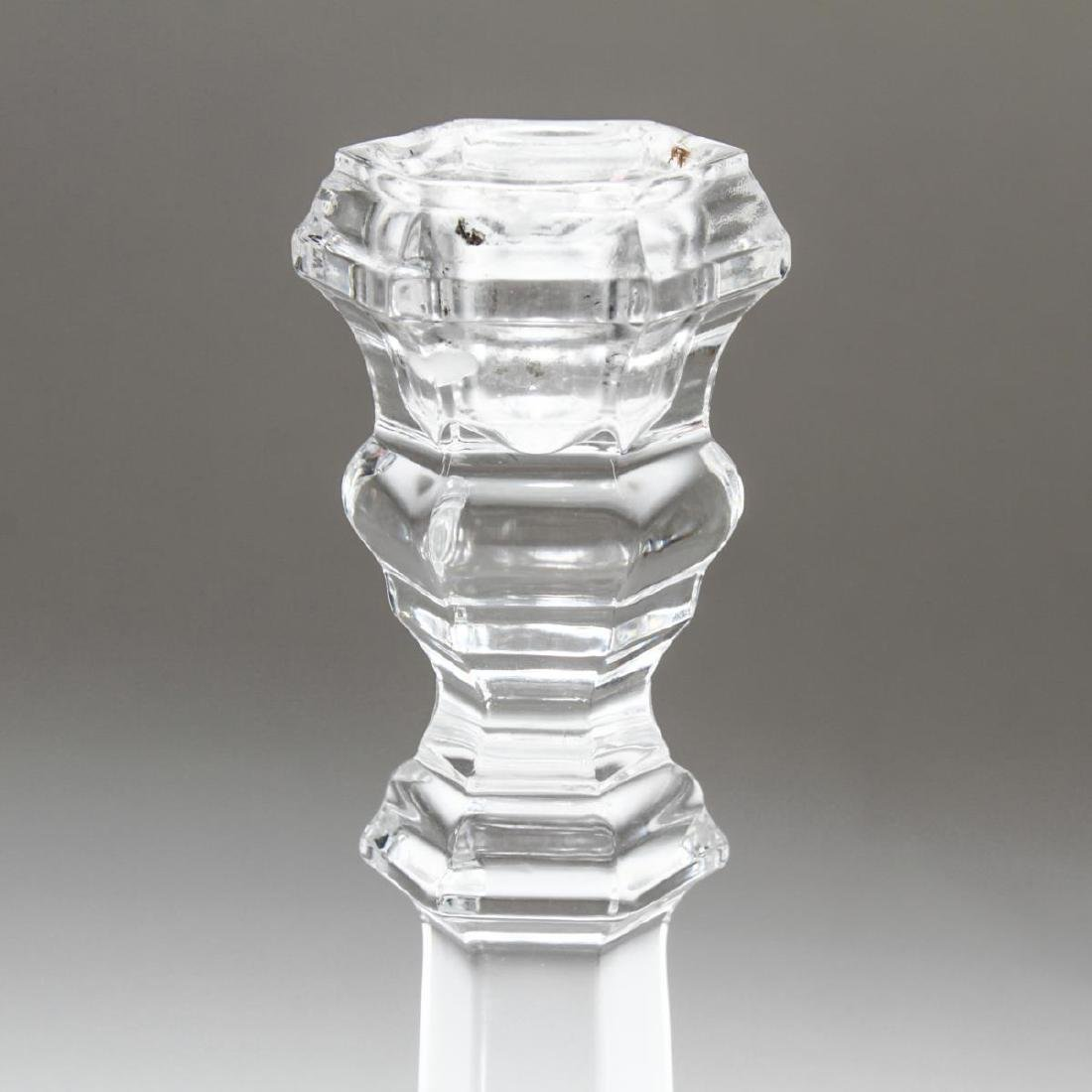 "Tiffany & Co ""Plymouth"" Crystal Candlesticks, Pair - 2"