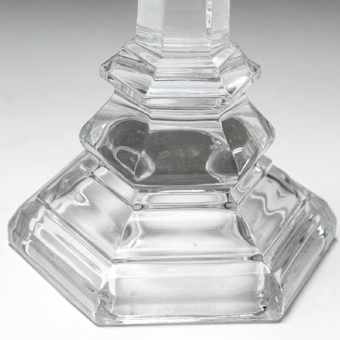 "Tiffany & Co ""Plymouth"" Crystal Candlesticks, Pair - 3"