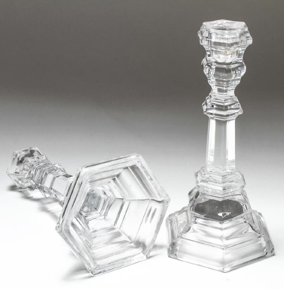 "Tiffany & Co ""Plymouth"" Crystal Candlesticks, Pair - 5"