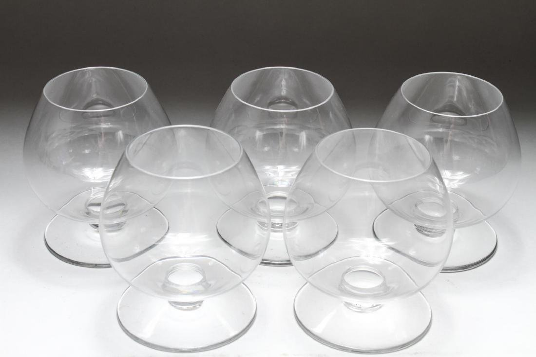 Baccarat Crystal Brandy Glasses / Snifters, 5