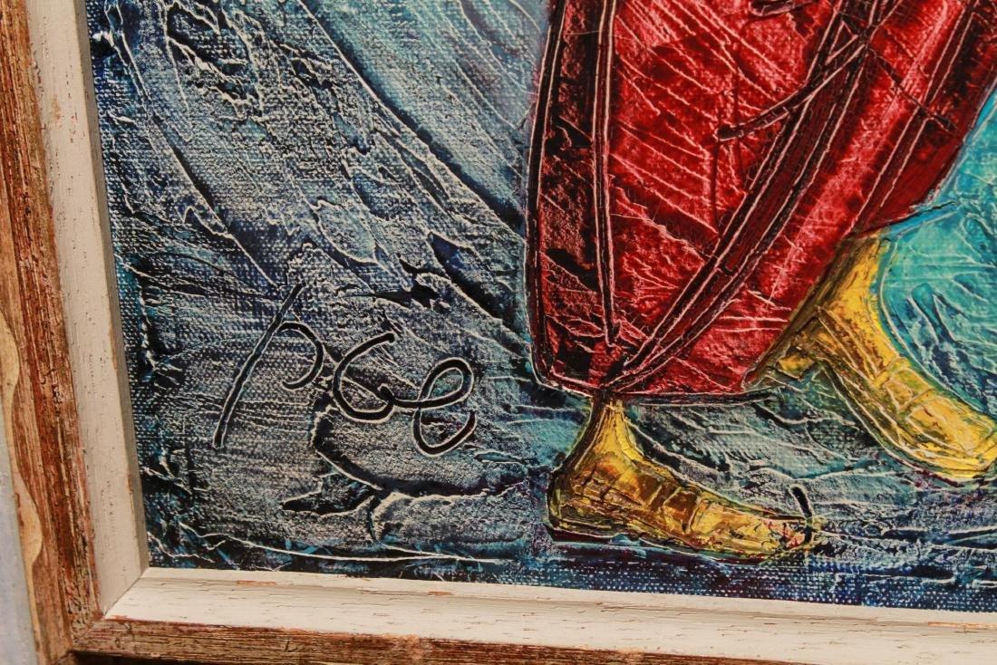 "Judaica Yossi Stern ""Simchat Torah"" Oil on Canvas - 4"