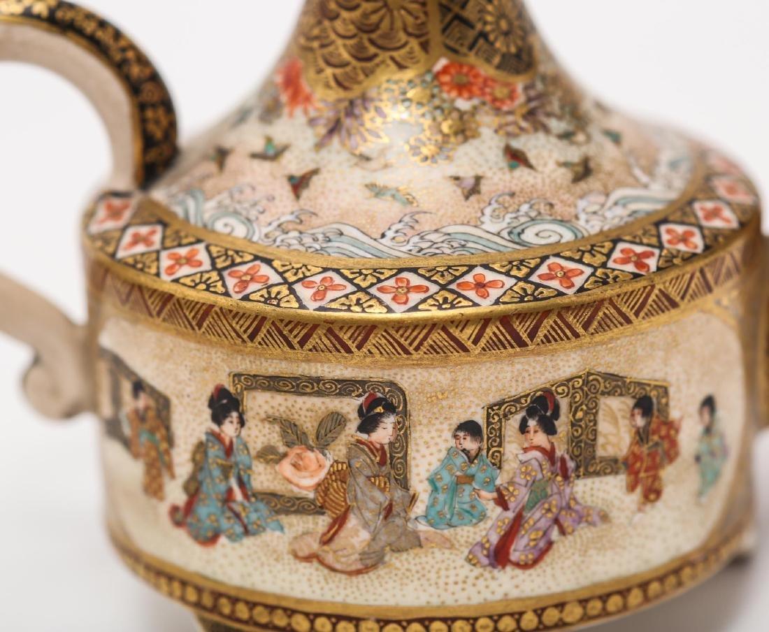 Japanese Satsuma Wine Sake Pot by Hyozan - 4