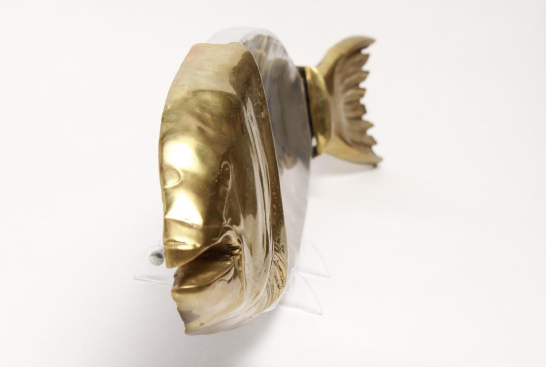 Italian Fish Platter, Aluminum and Brass - 4