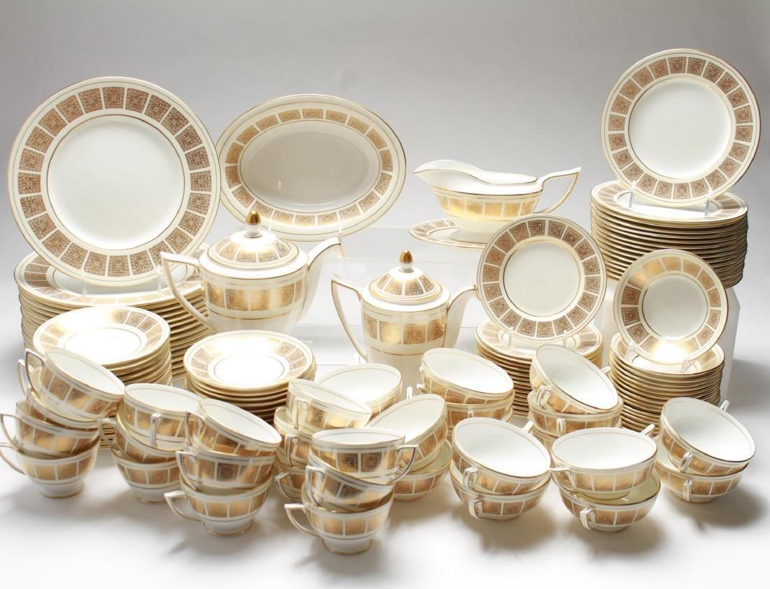 "Minton Bone China ""Athena Ivory"" Dinner Svc for 16"