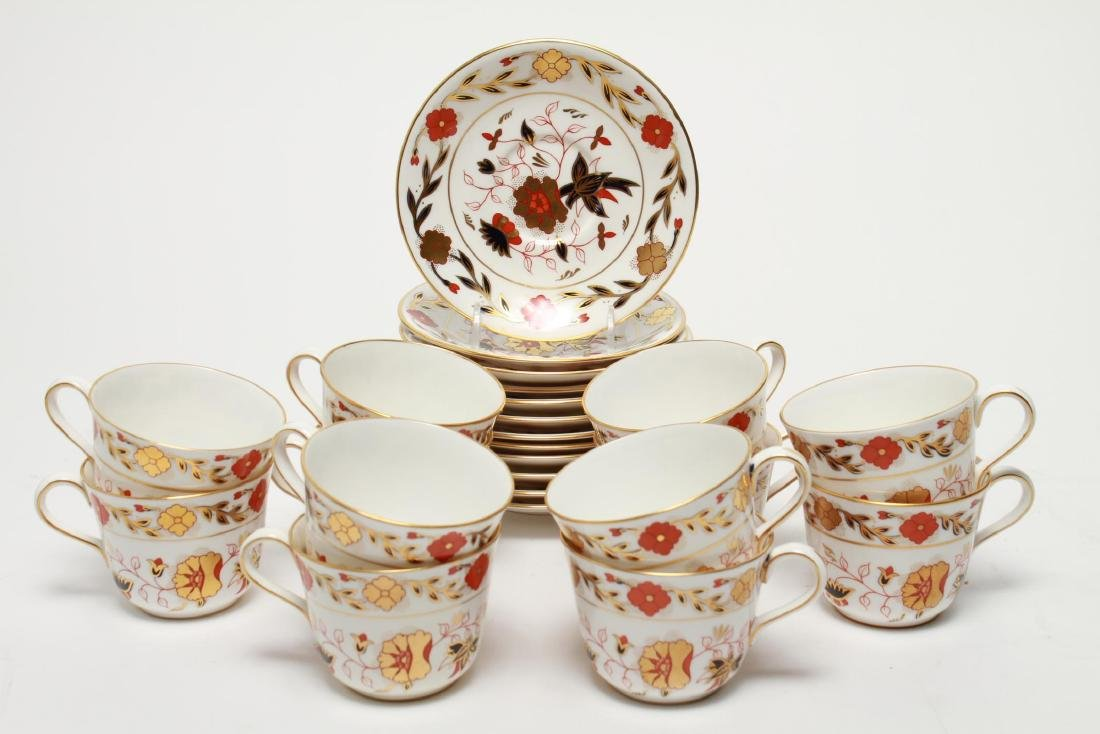 """Royal Crown Derby """"Asian Rose"""" Cups & Saucers, 12"""