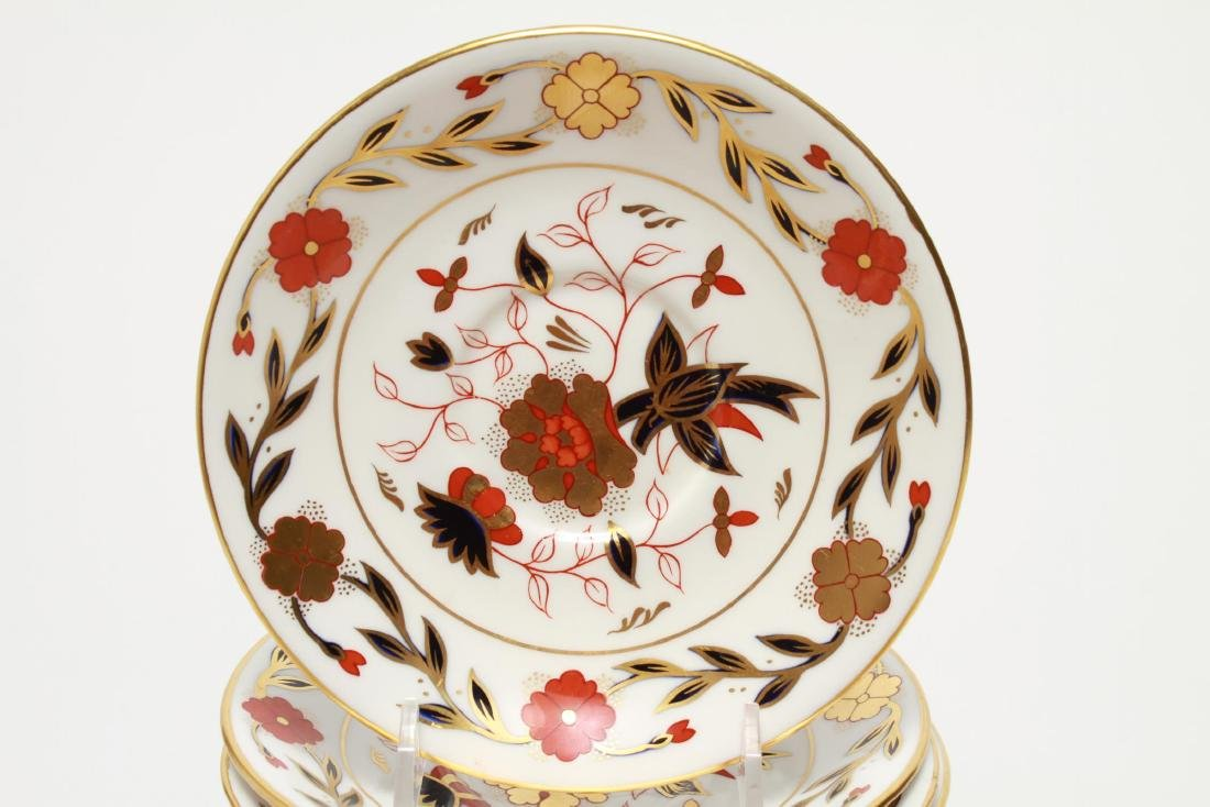 """Royal Crown Derby """"Asian Rose"""" Cups & Saucers, 12 - 2"""