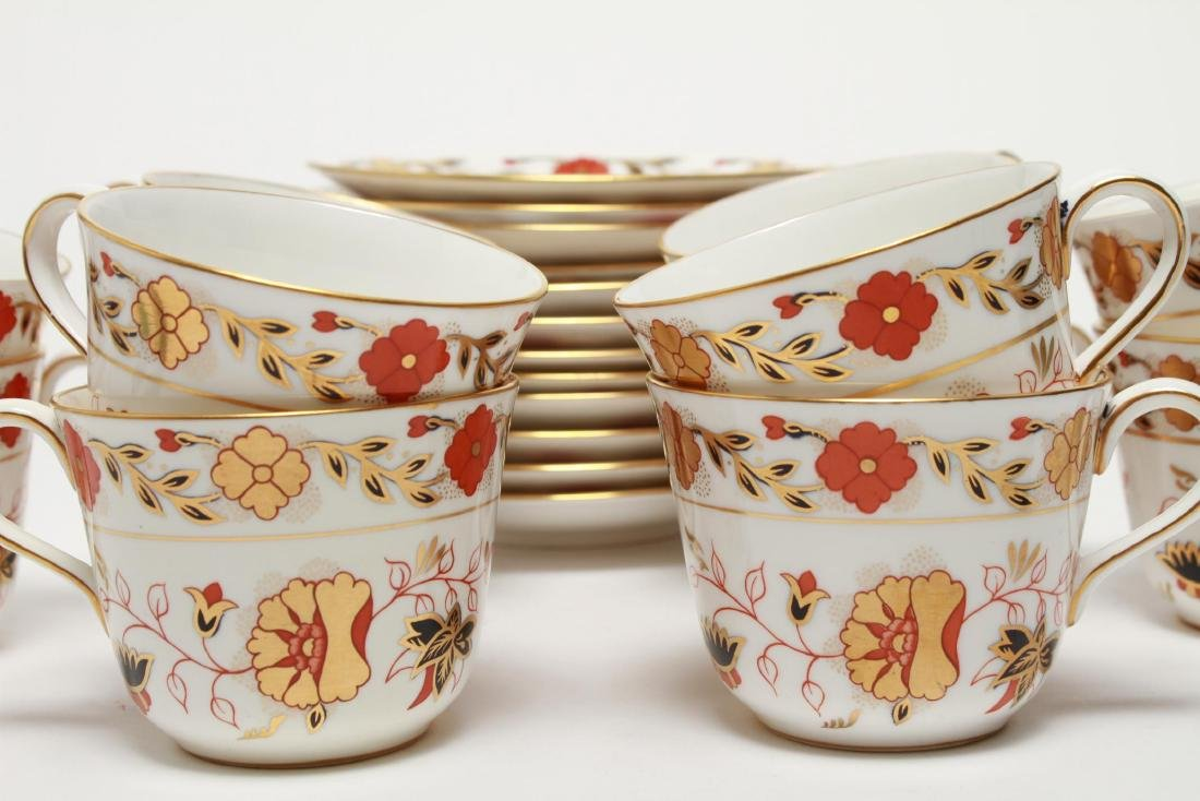 """Royal Crown Derby """"Asian Rose"""" Cups & Saucers, 12 - 4"""