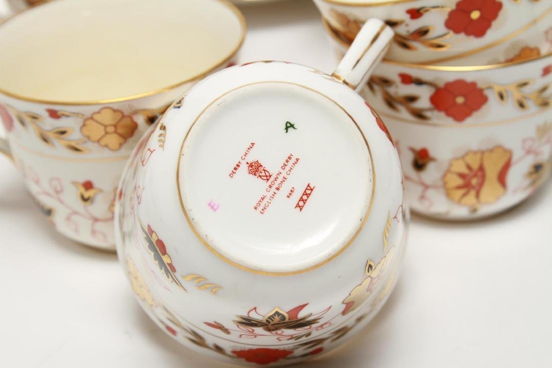 """Royal Crown Derby """"Asian Rose"""" Cups & Saucers, 12 - 5"""