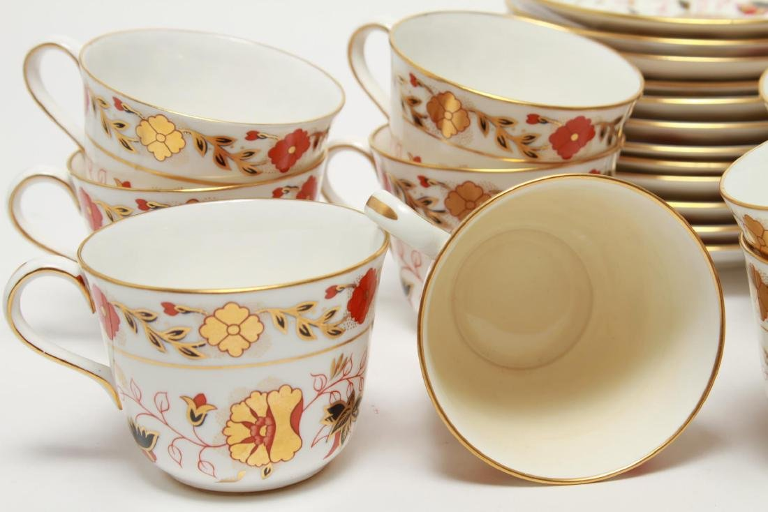 """Royal Crown Derby """"Asian Rose"""" Cups & Saucers, 12 - 6"""
