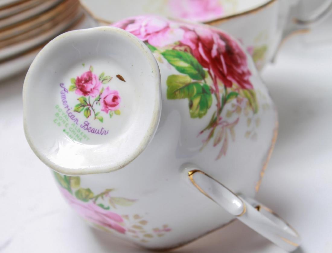 "Royal Albert "" American Beauty"" Bone China Tea Svc - 3"