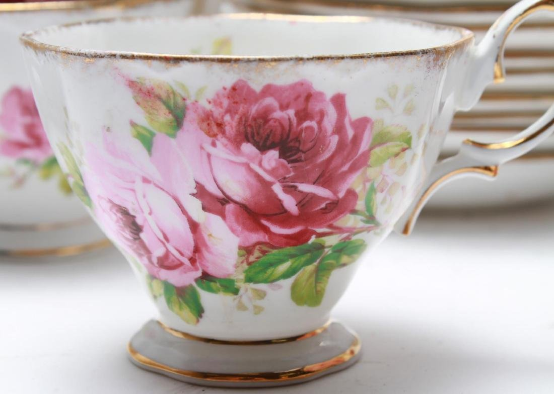 "Royal Albert "" American Beauty"" Bone China Tea Svc - 4"