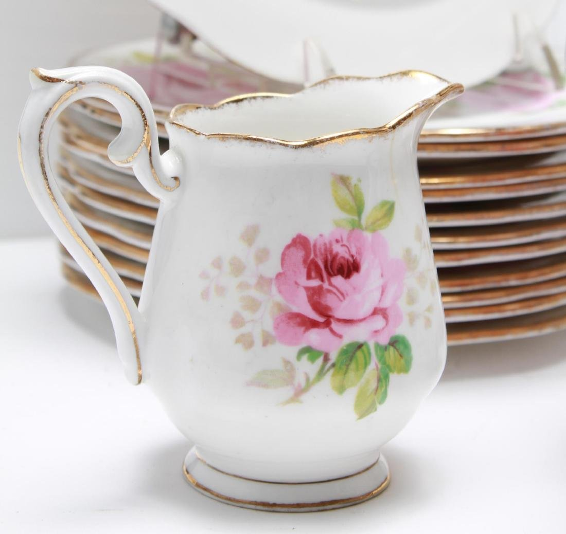 "Royal Albert "" American Beauty"" Bone China Tea Svc - 5"