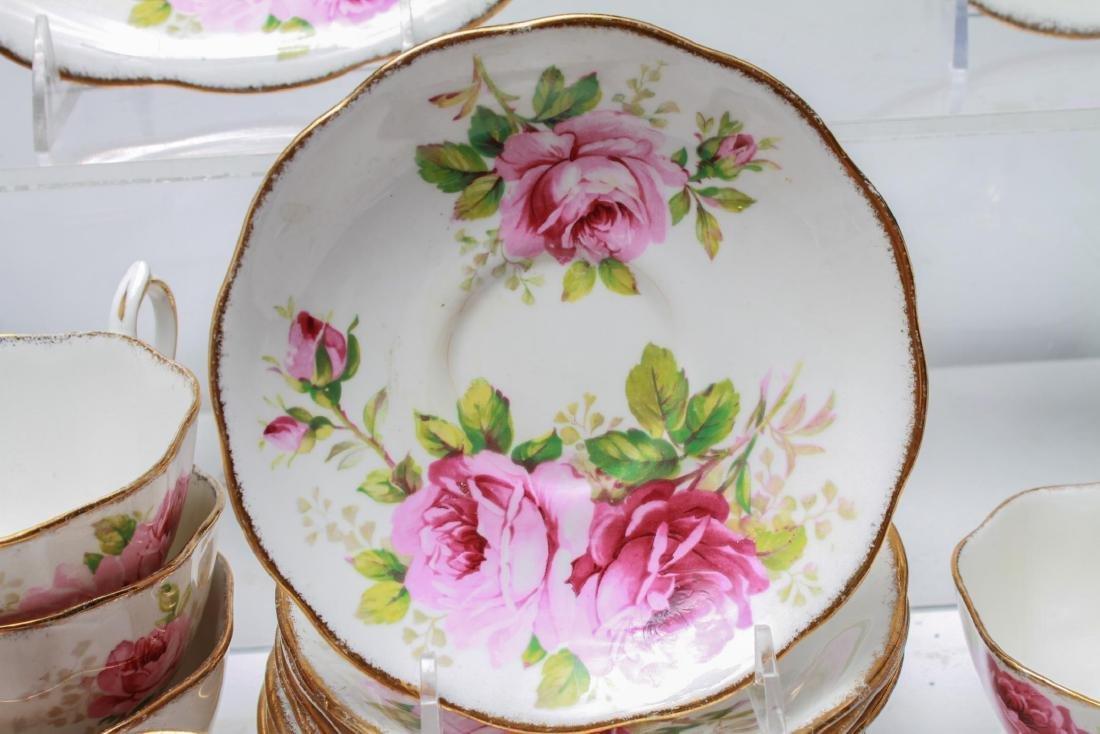 "Royal Albert "" American Beauty"" Bone China Tea Svc - 9"