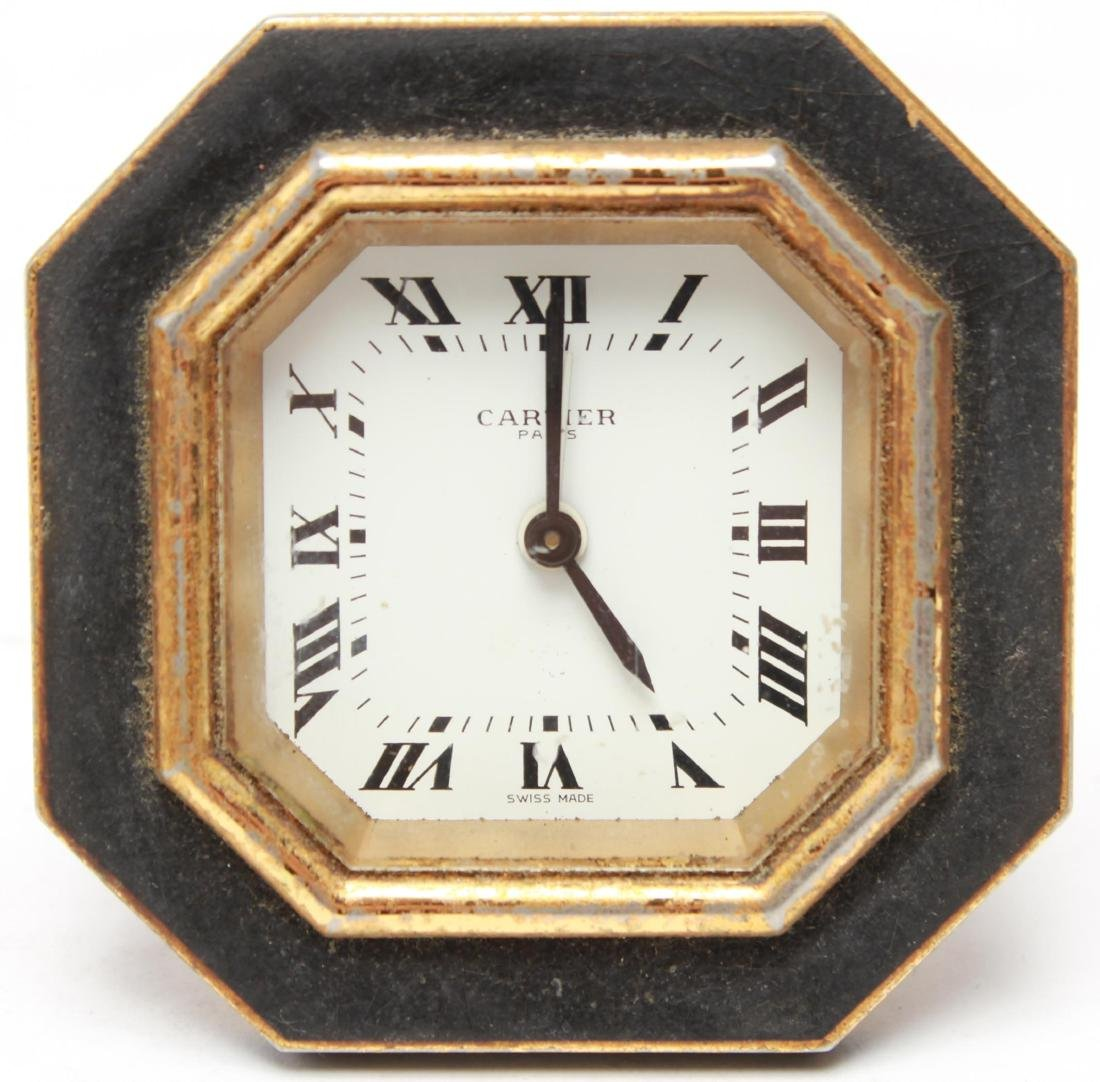 Cartier Swiss Travel Alarm Clock, Vintage