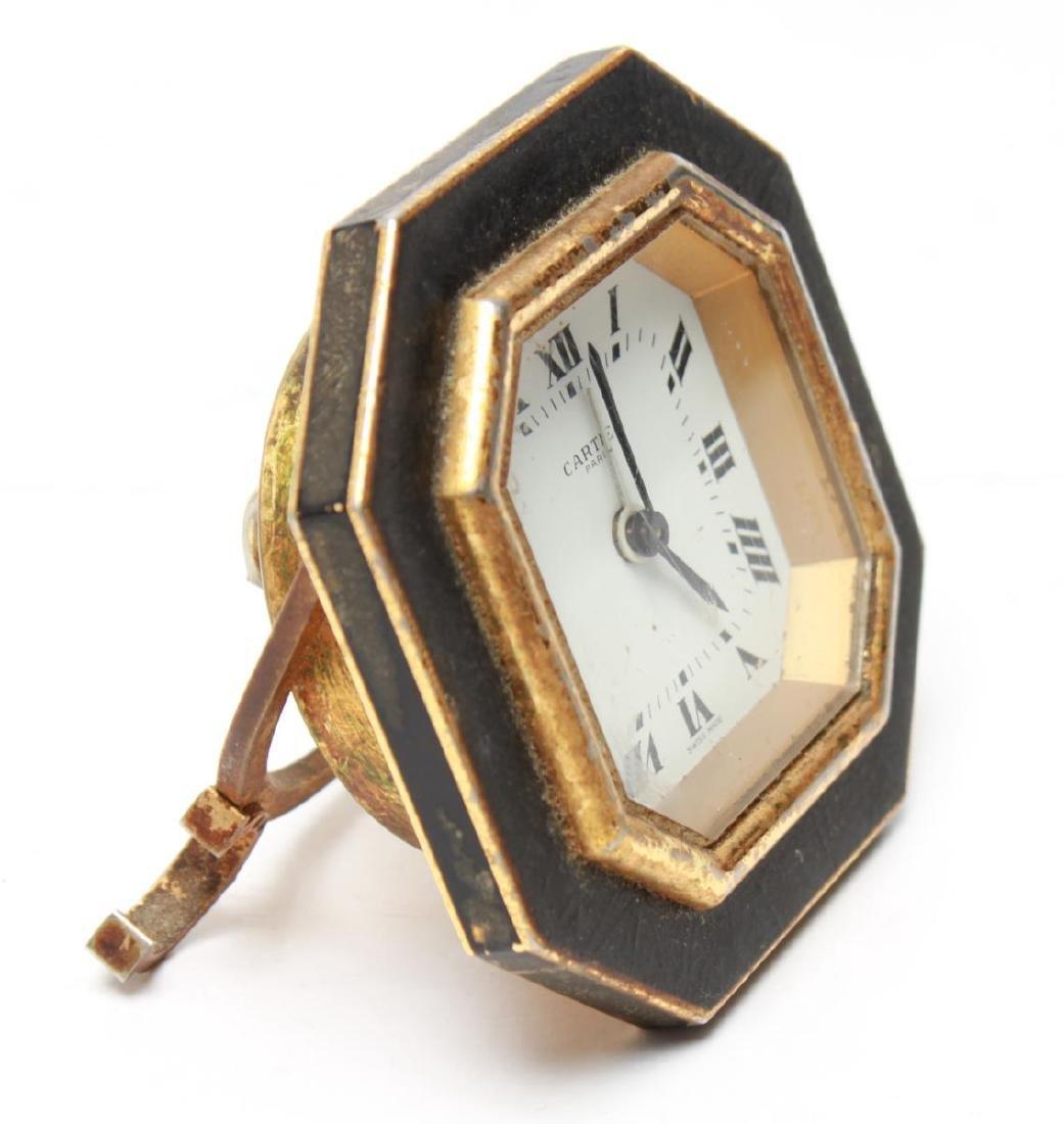 Cartier Swiss Travel Alarm Clock, Vintage - 6