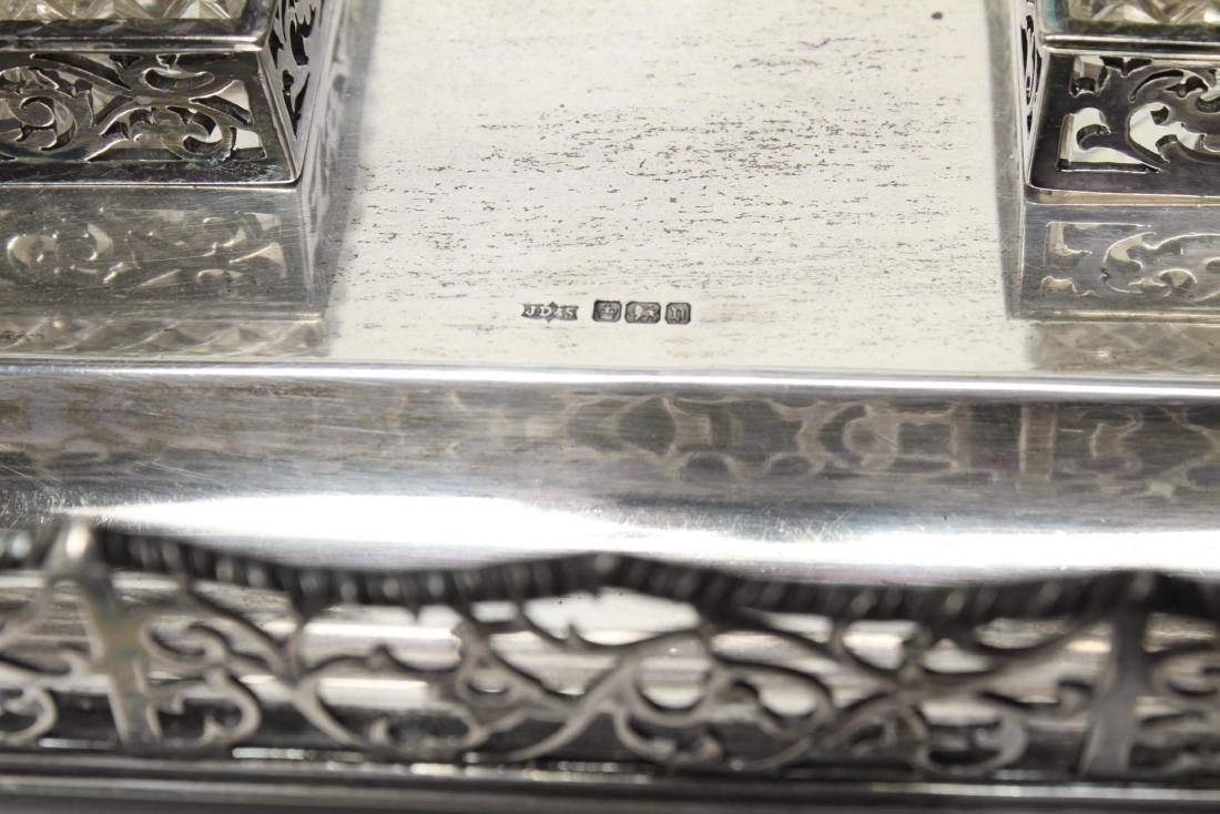 Sterling & Cut-Crystal James Dixon & Sons Inkwells - 10