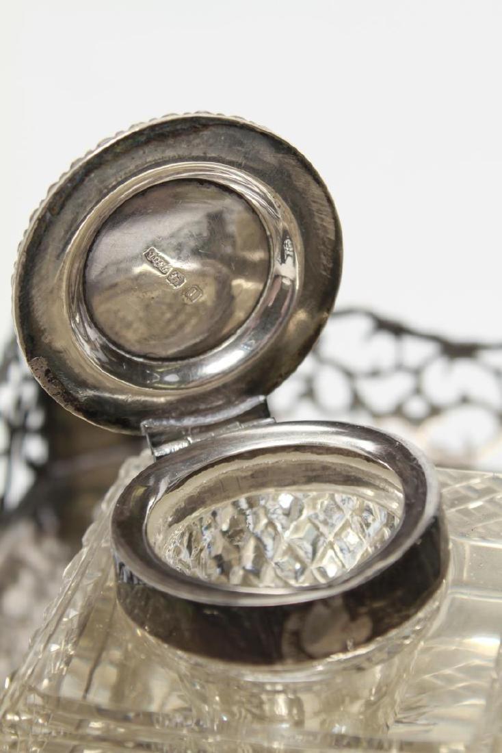 Sterling & Cut-Crystal James Dixon & Sons Inkwells - 15