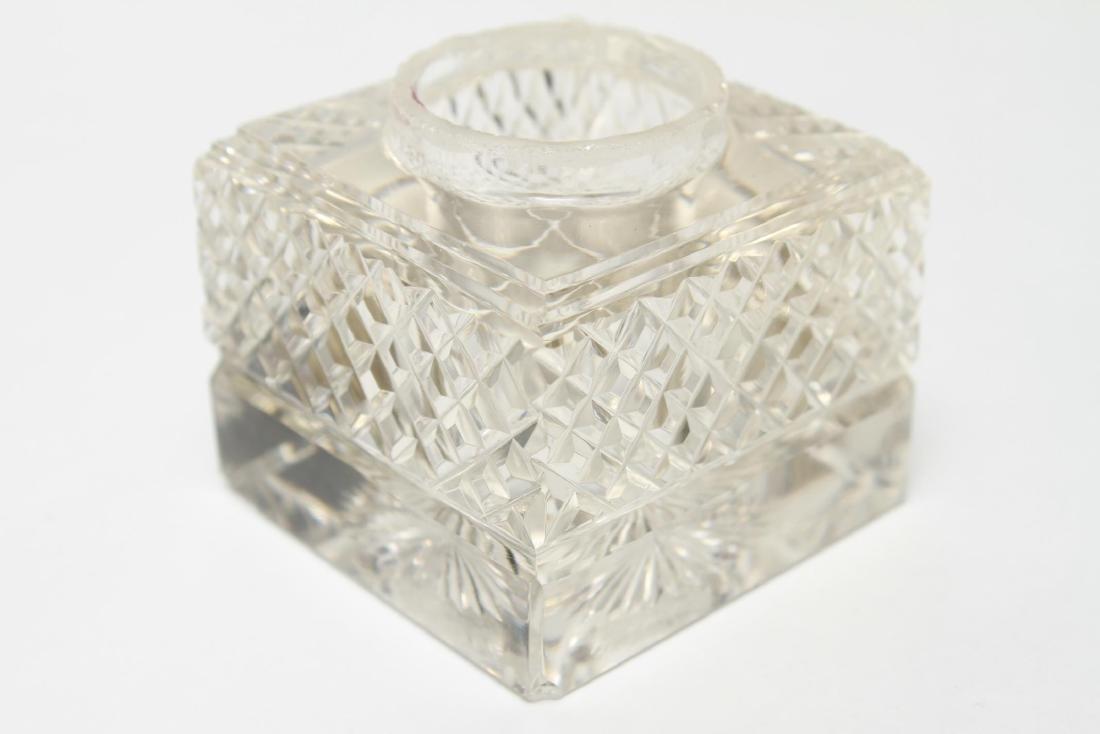 Sterling & Cut-Crystal James Dixon & Sons Inkwells - 6