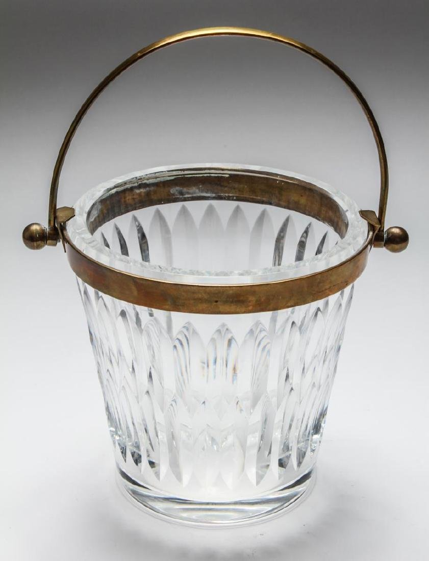 Baccarat Crystal Brass Mounted Champagne Bucket