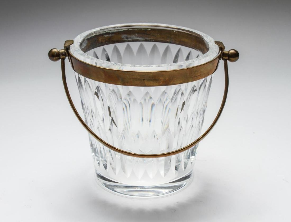 Baccarat Crystal Brass Mounted Champagne Bucket - 2