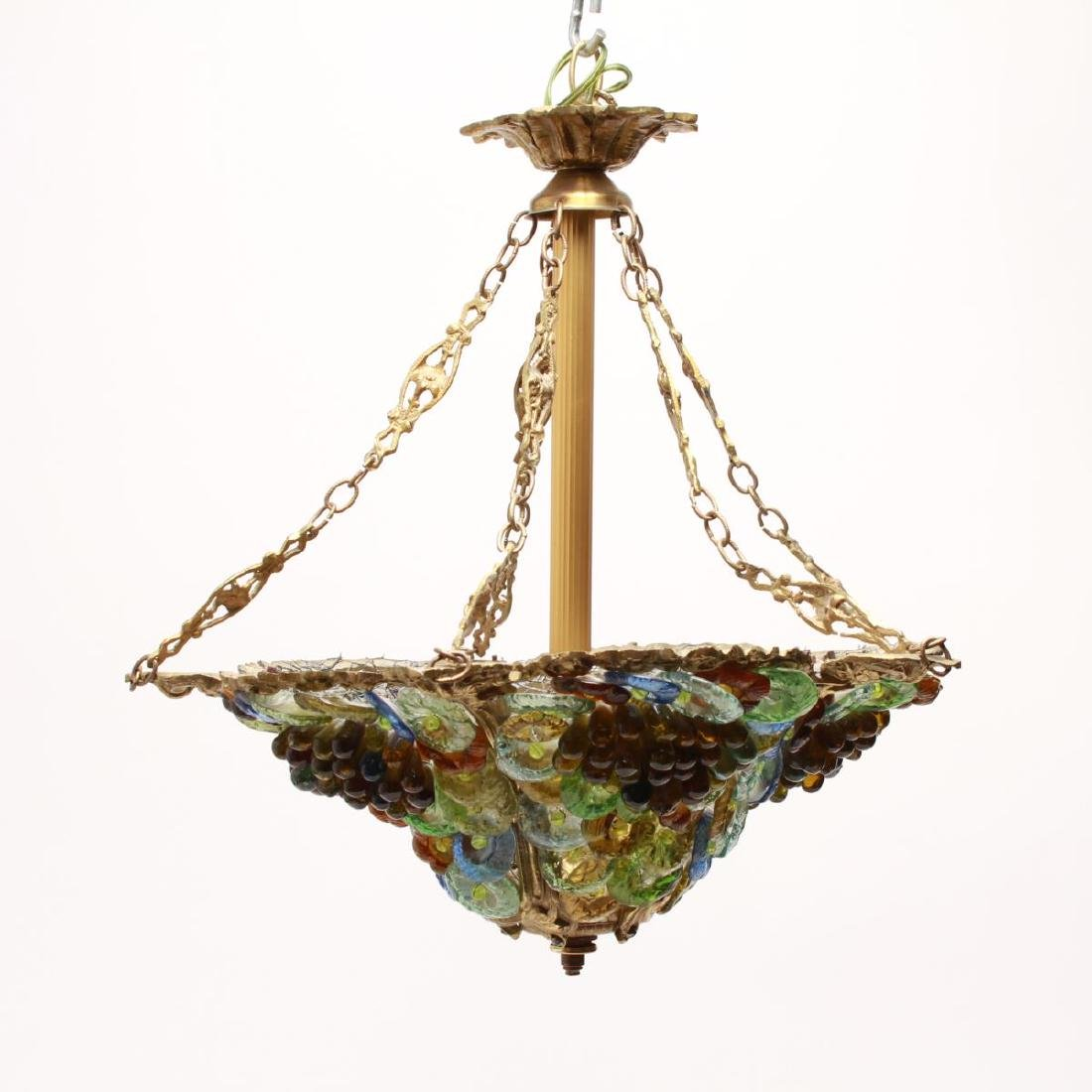 Murano Venetian Glass Grapes & Flowers Chandelier