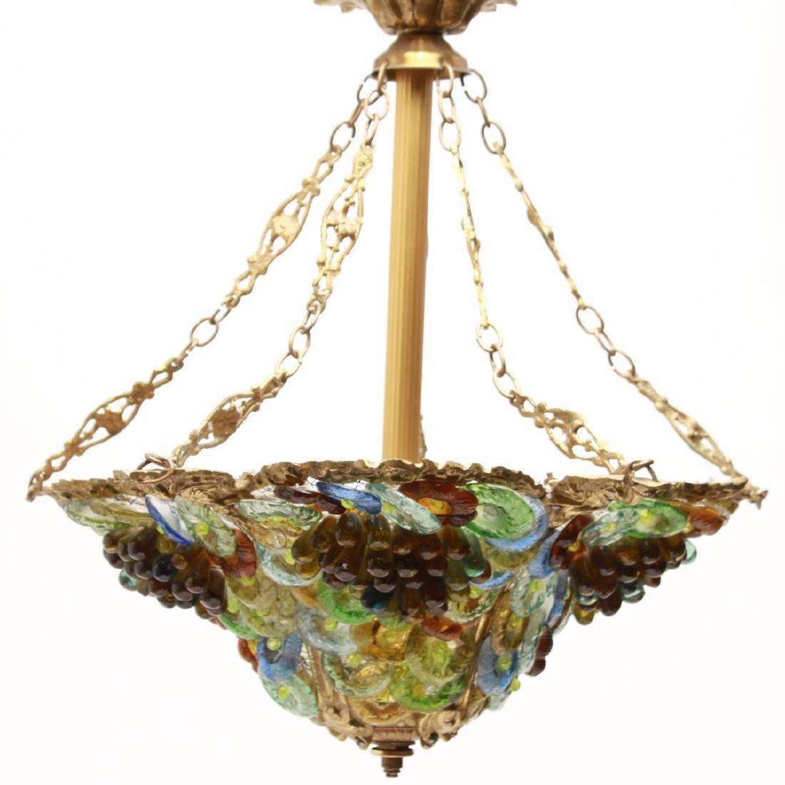 Murano Venetian Glass Grapes & Flowers Chandelier - 2