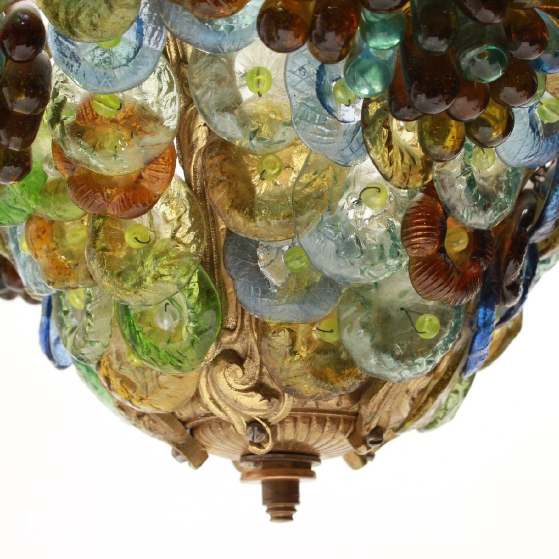 Murano Venetian Glass Grapes & Flowers Chandelier - 4
