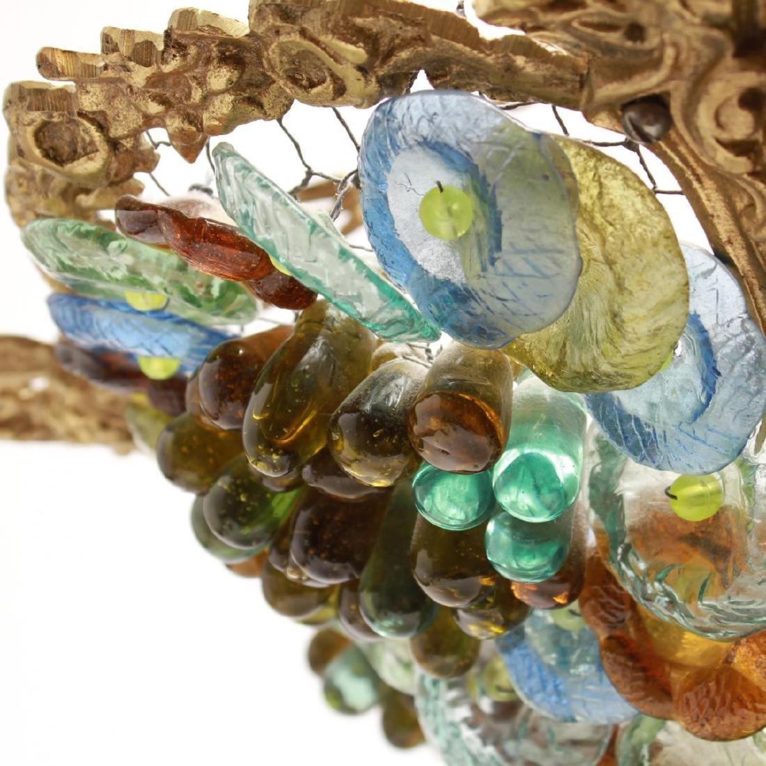 Murano Venetian Glass Grapes & Flowers Chandelier - 5