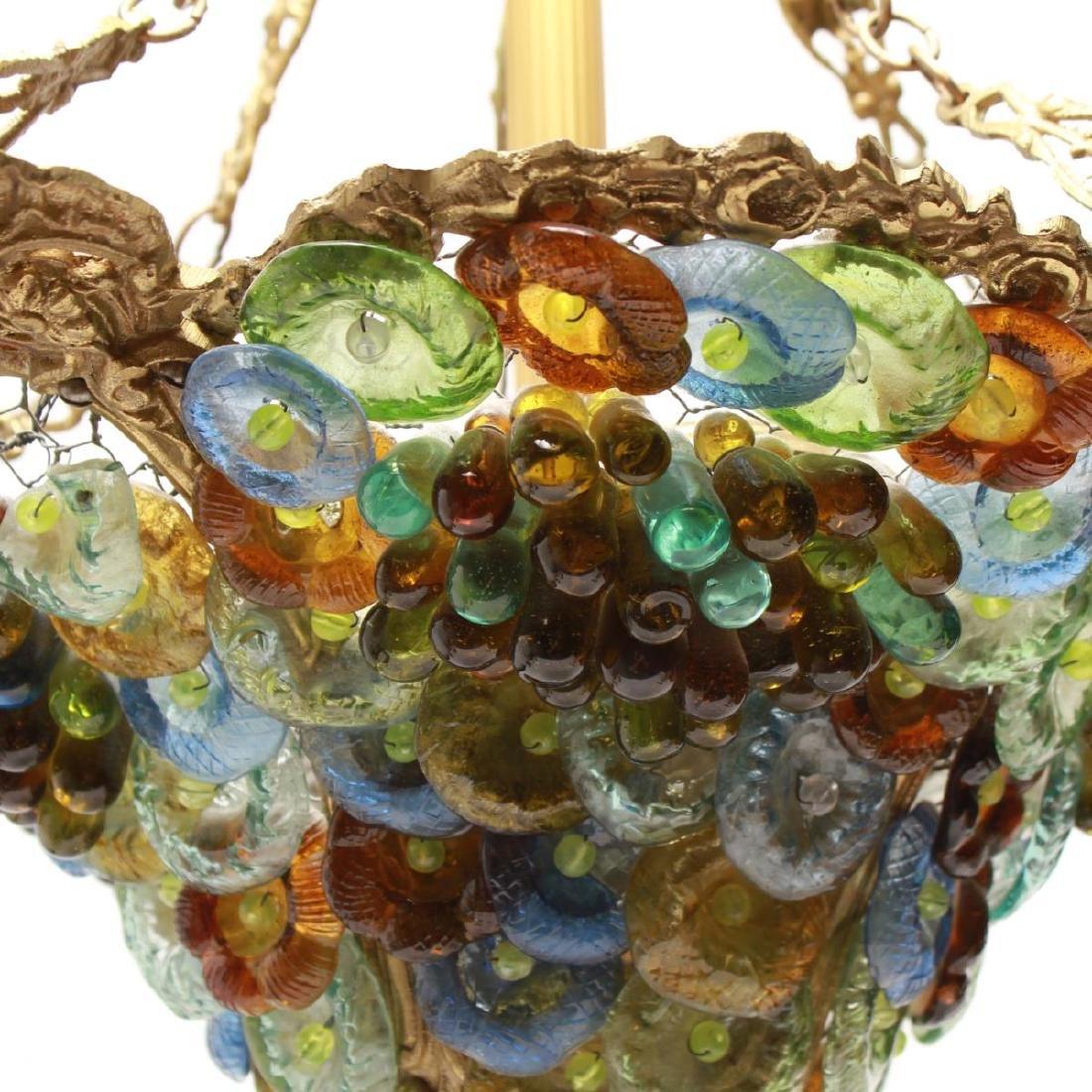 Murano Venetian Glass Grapes & Flowers Chandelier - 6