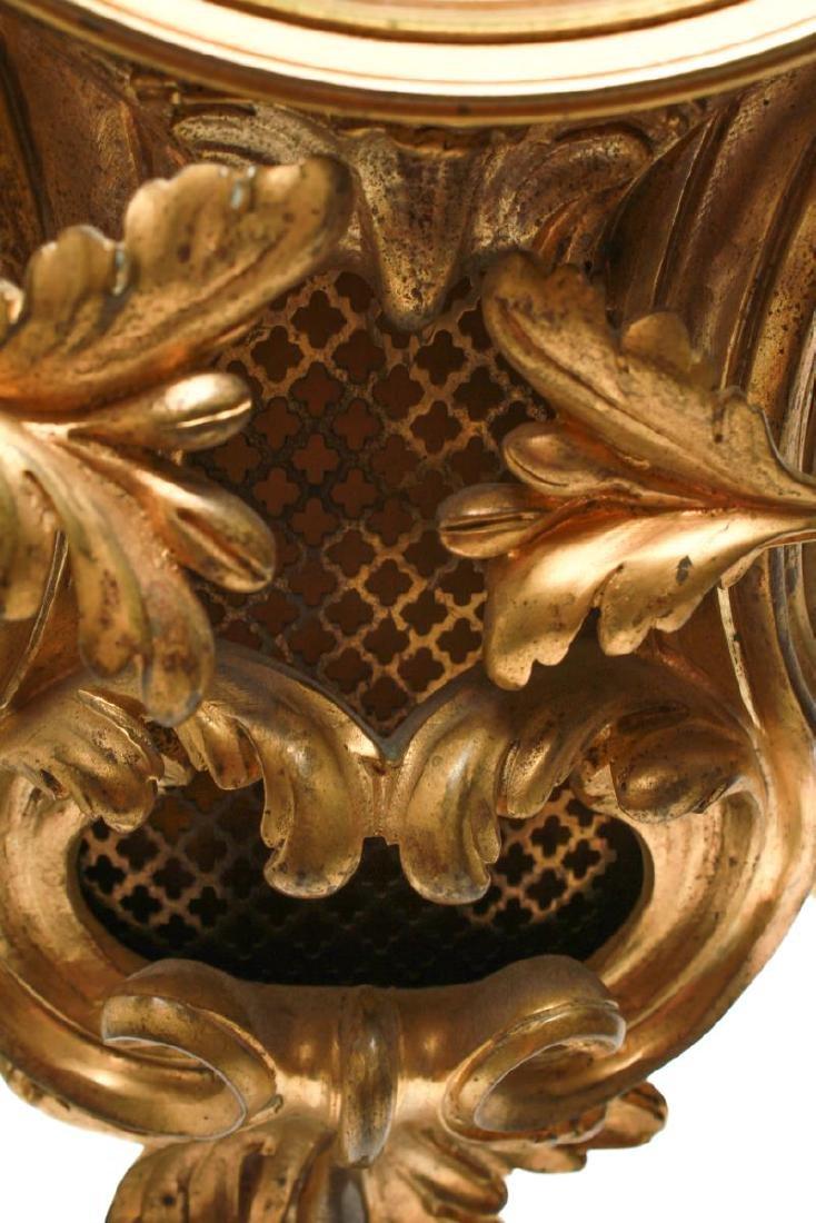 Lerolle Freres Gilt Bronze Cartel Clock c. 1870 - 2