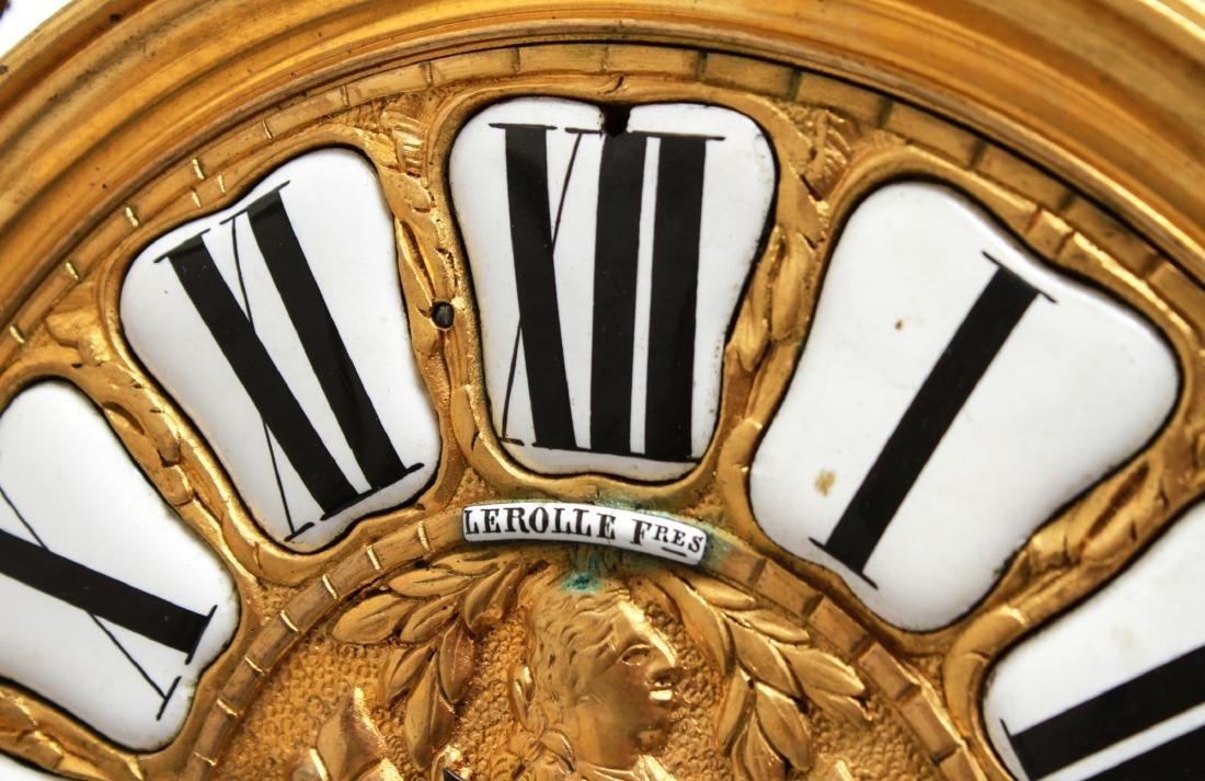 Lerolle Freres Gilt Bronze Cartel Clock c. 1870 - 5