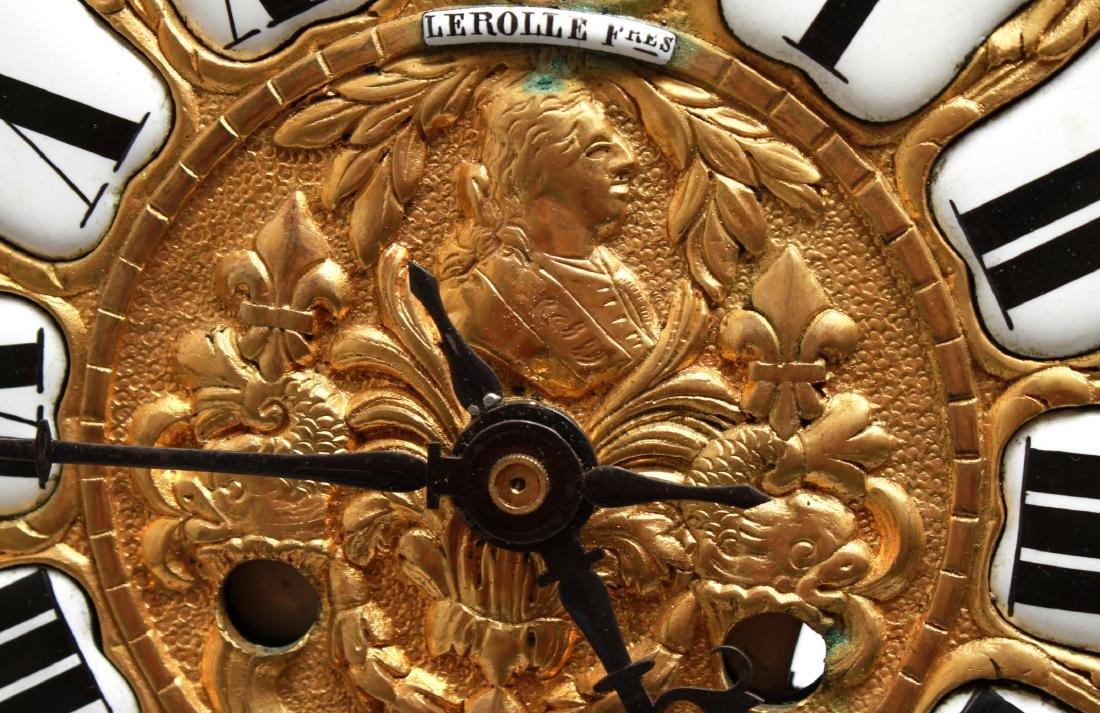 Lerolle Freres Gilt Bronze Cartel Clock c. 1870 - 6