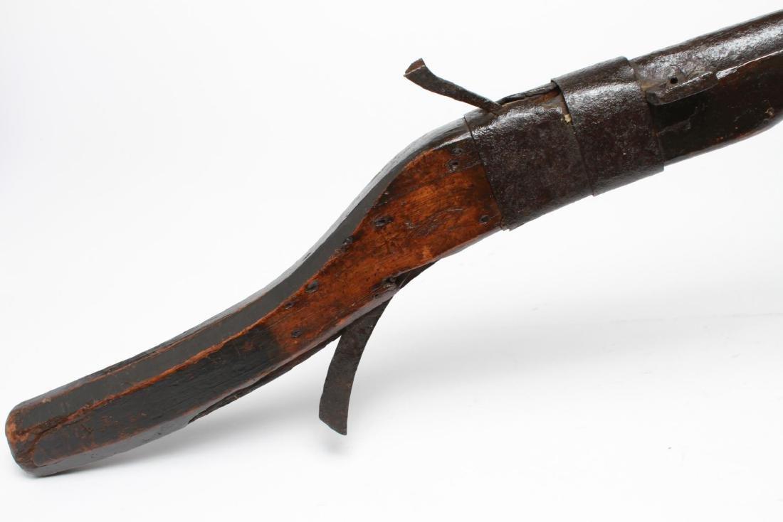 Tibetan Matchlock Rifle, Antique Militaria, Rare - 5