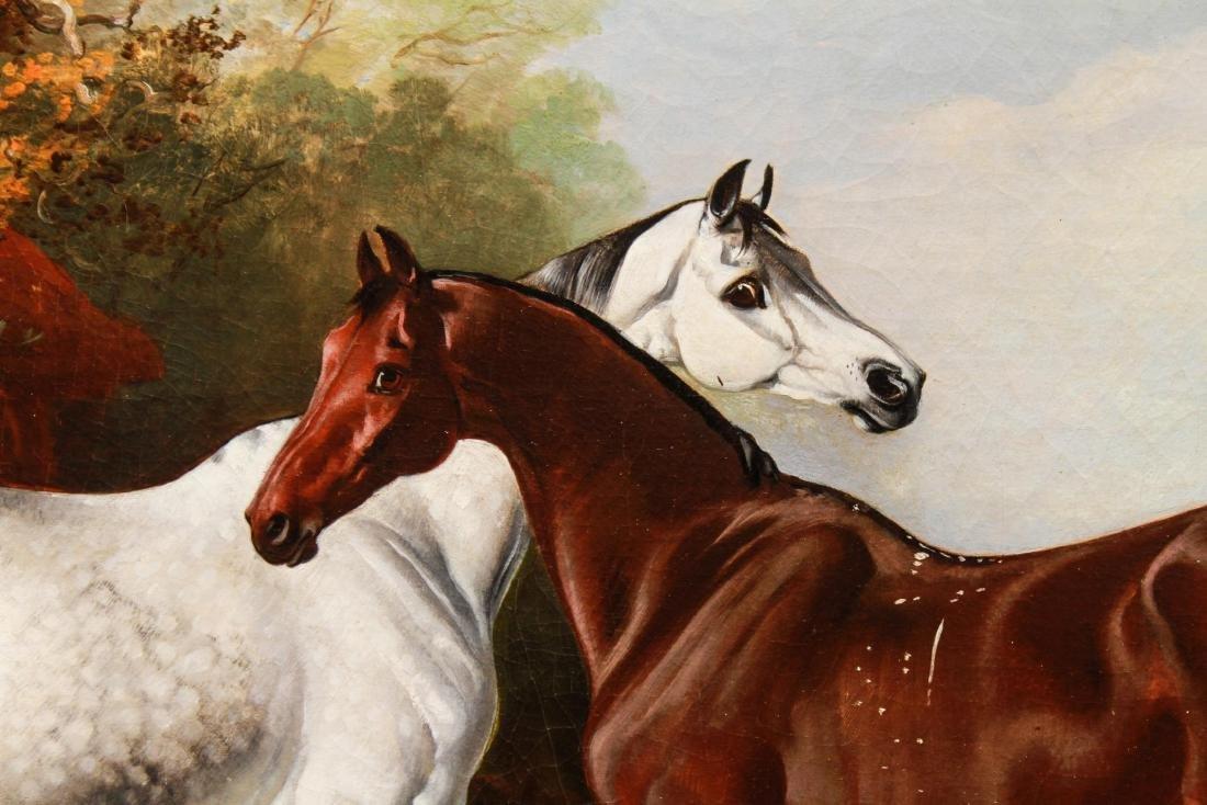Henry Barraud Equestrian Portraits - 3 Horses, Oil - 10