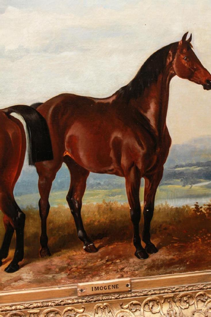 Henry Barraud Equestrian Portraits - 3 Horses, Oil - 7