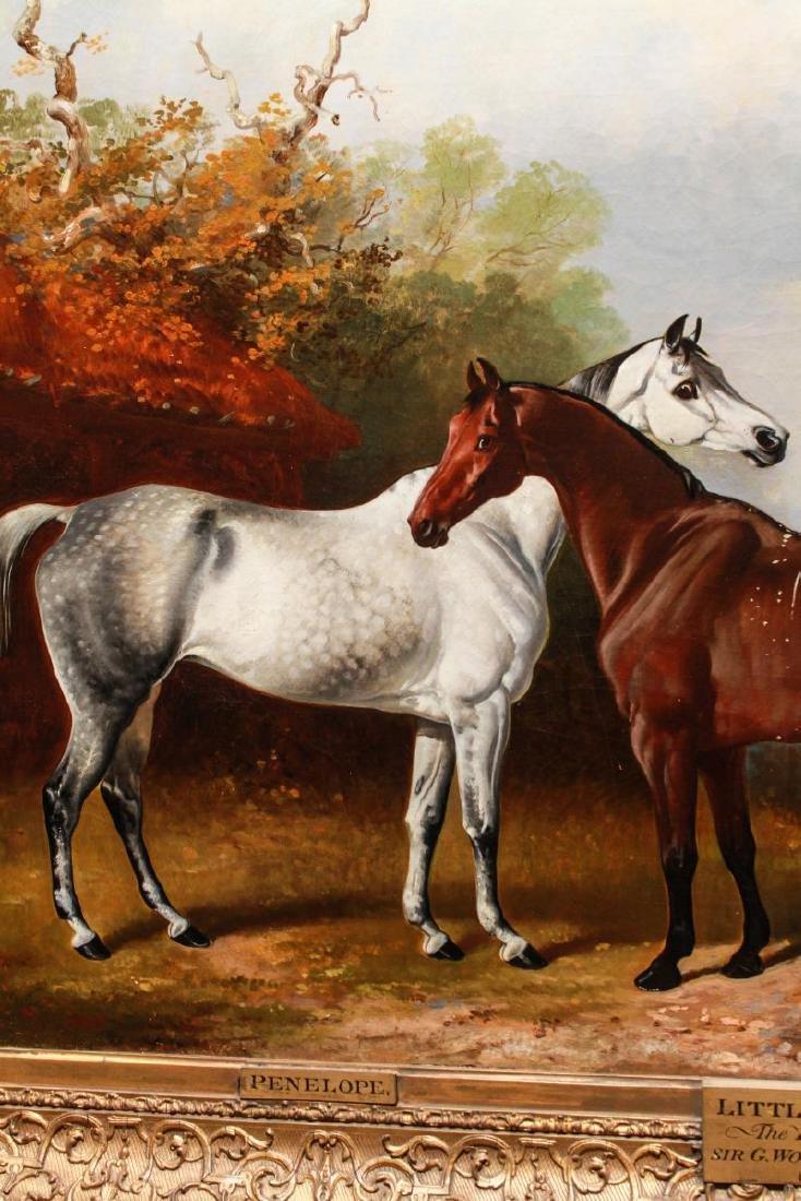 Henry Barraud Equestrian Portraits - 3 Horses, Oil - 8