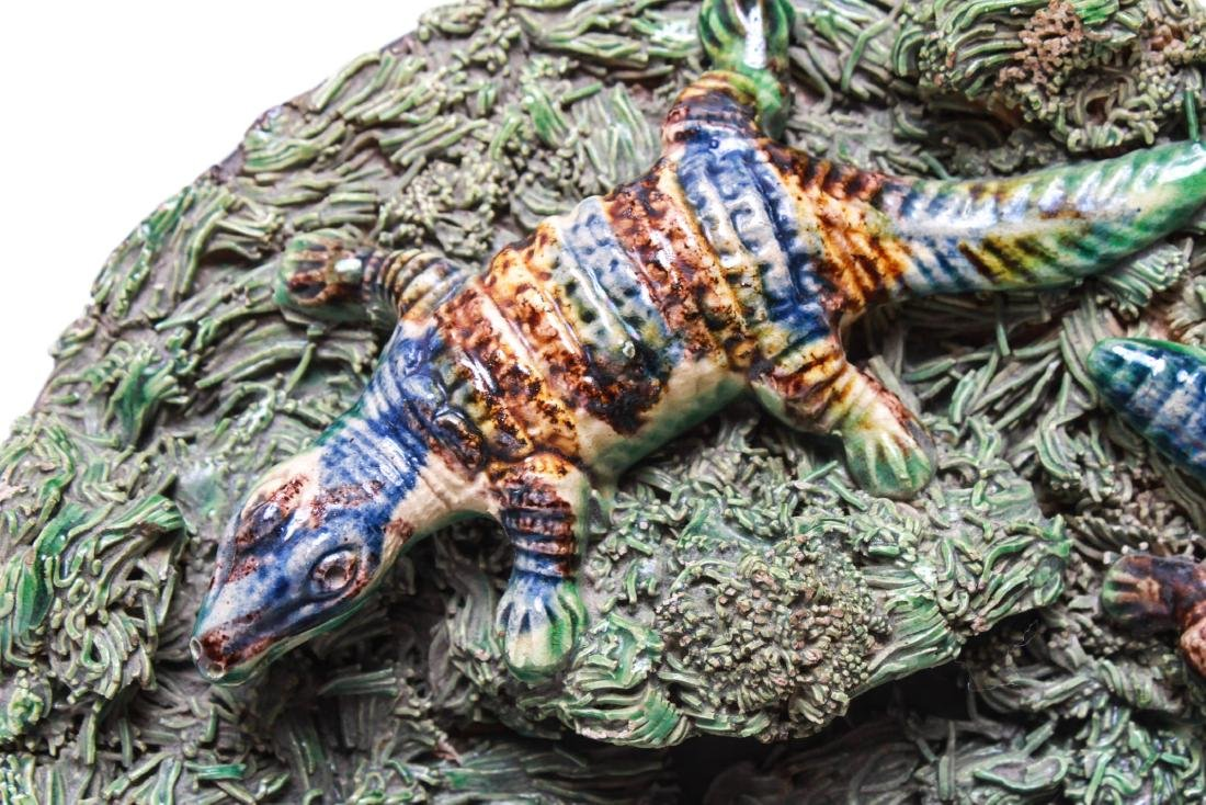 Palissy -Manner Majolica Amphibians Wall Plate - 4