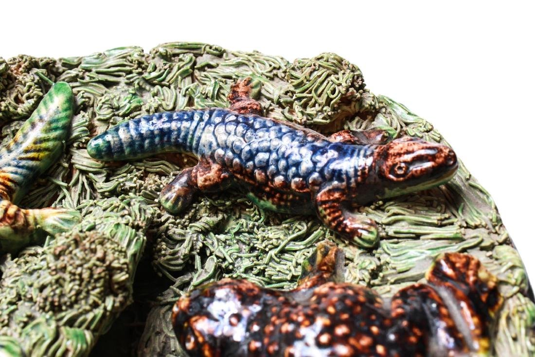 Palissy -Manner Majolica Amphibians Wall Plate - 7