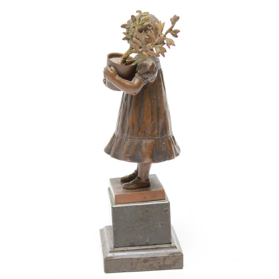 Bronze Sculptures of a Young Girl & Boy, 2 - 10