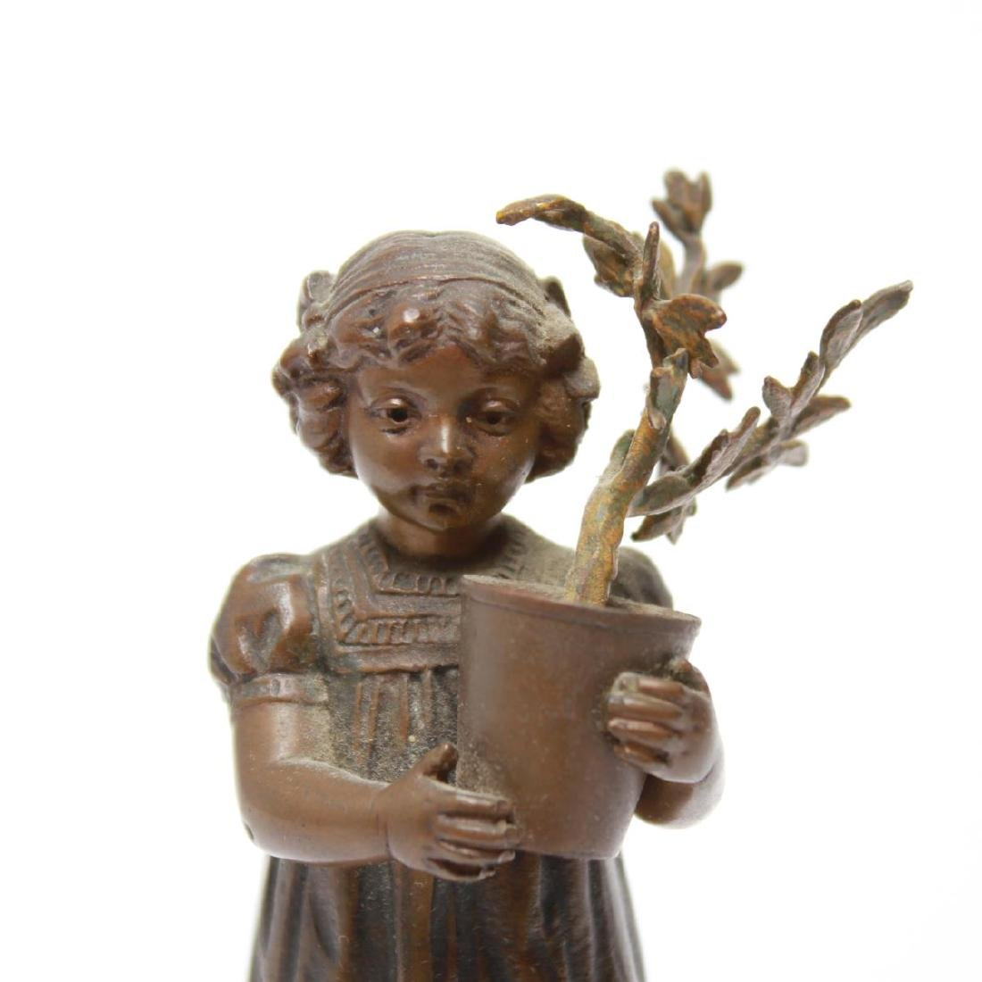 Bronze Sculptures of a Young Girl & Boy, 2 - 9