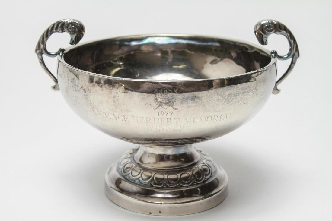 Silver Trophy Loving Cup Tazza Ram's Heads