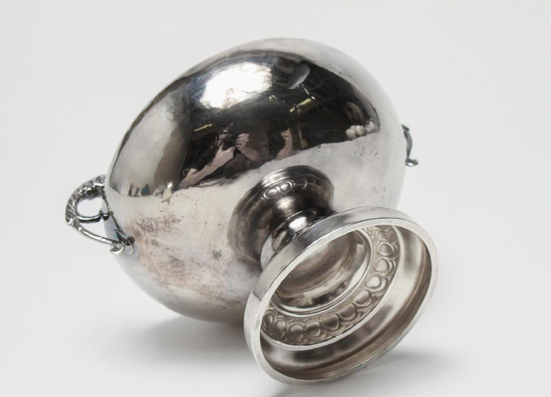Silver Trophy Loving Cup Tazza Ram's Heads - 4