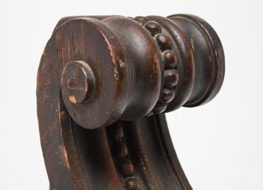 Architectural Corbels, Carved Oak, Antique Pair - 7