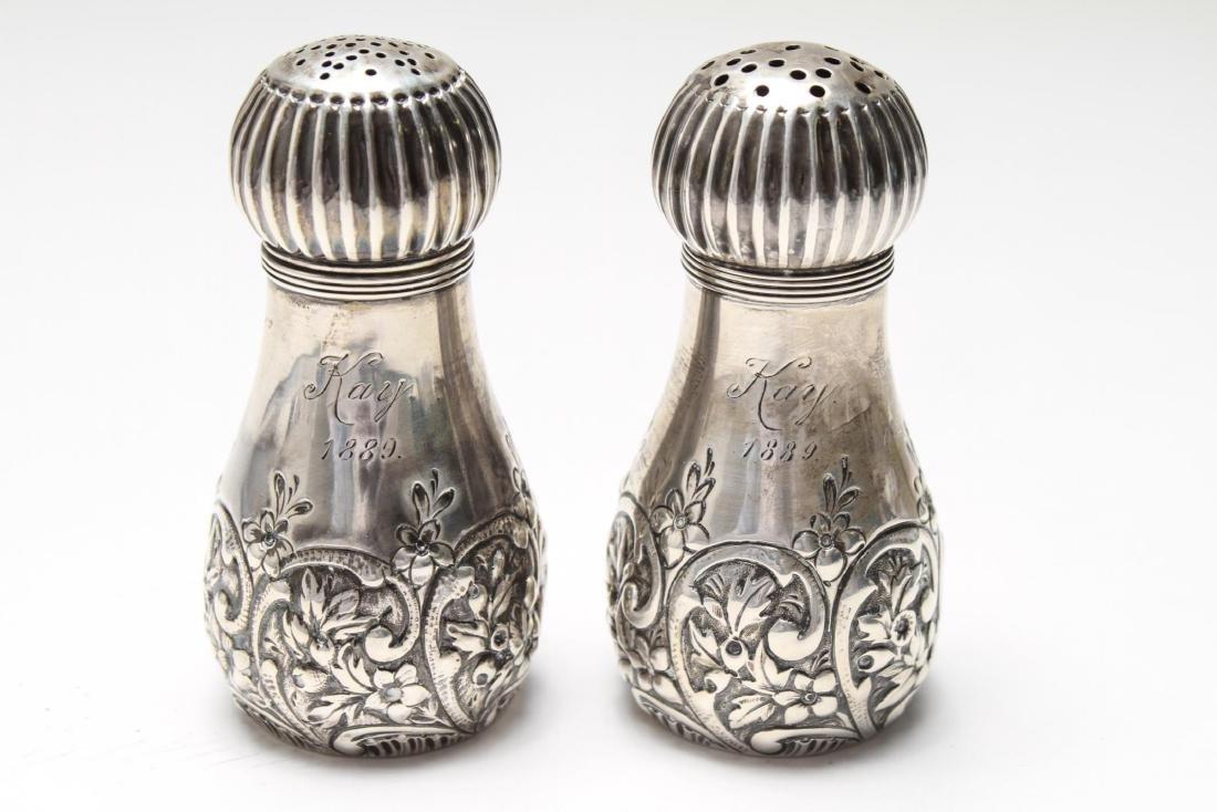 Gorham Sterling Repousse Salt & Pepper Shakers Pr