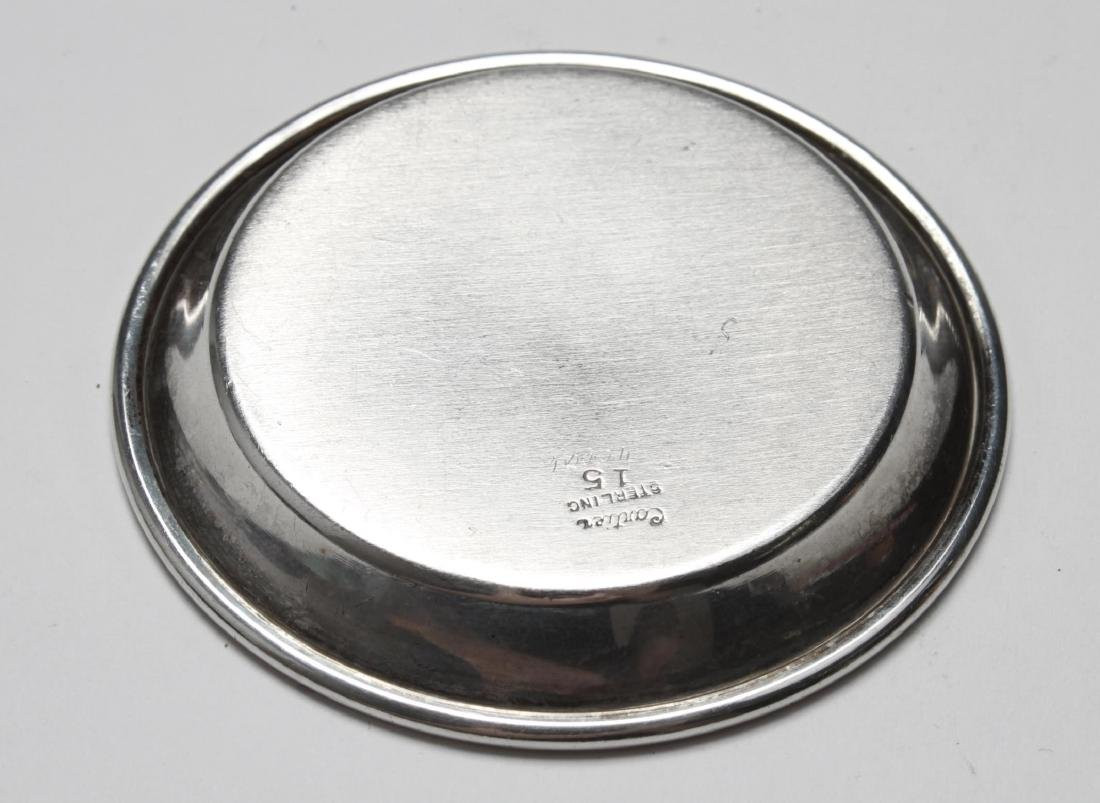 Cartier Sterling Silver Wine Taster & Small Plate - 4