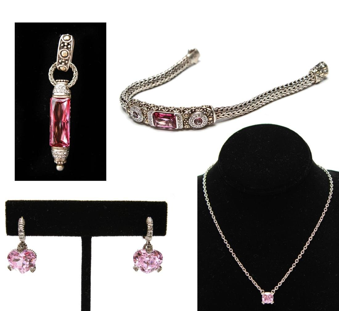 Judith Ripka 18K Gold Sterling Diamond Jewelry, 4