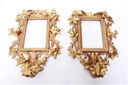 Italian RococoManner Giltwood Mirror Frames Pair