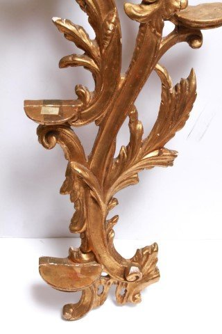 Italian Rococo-Manner Giltwood Candle Holders-Pair - 7