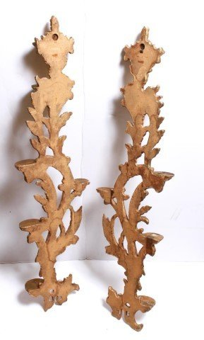 Italian Rococo-Manner Giltwood Candle Holders-Pair - 8